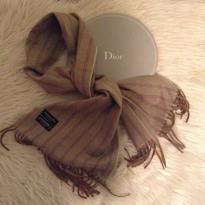 Dior Accessories - CHRISTIAN DIOR cashmere scarf